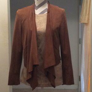 Ladies lightweight genuine leather suede  blazer